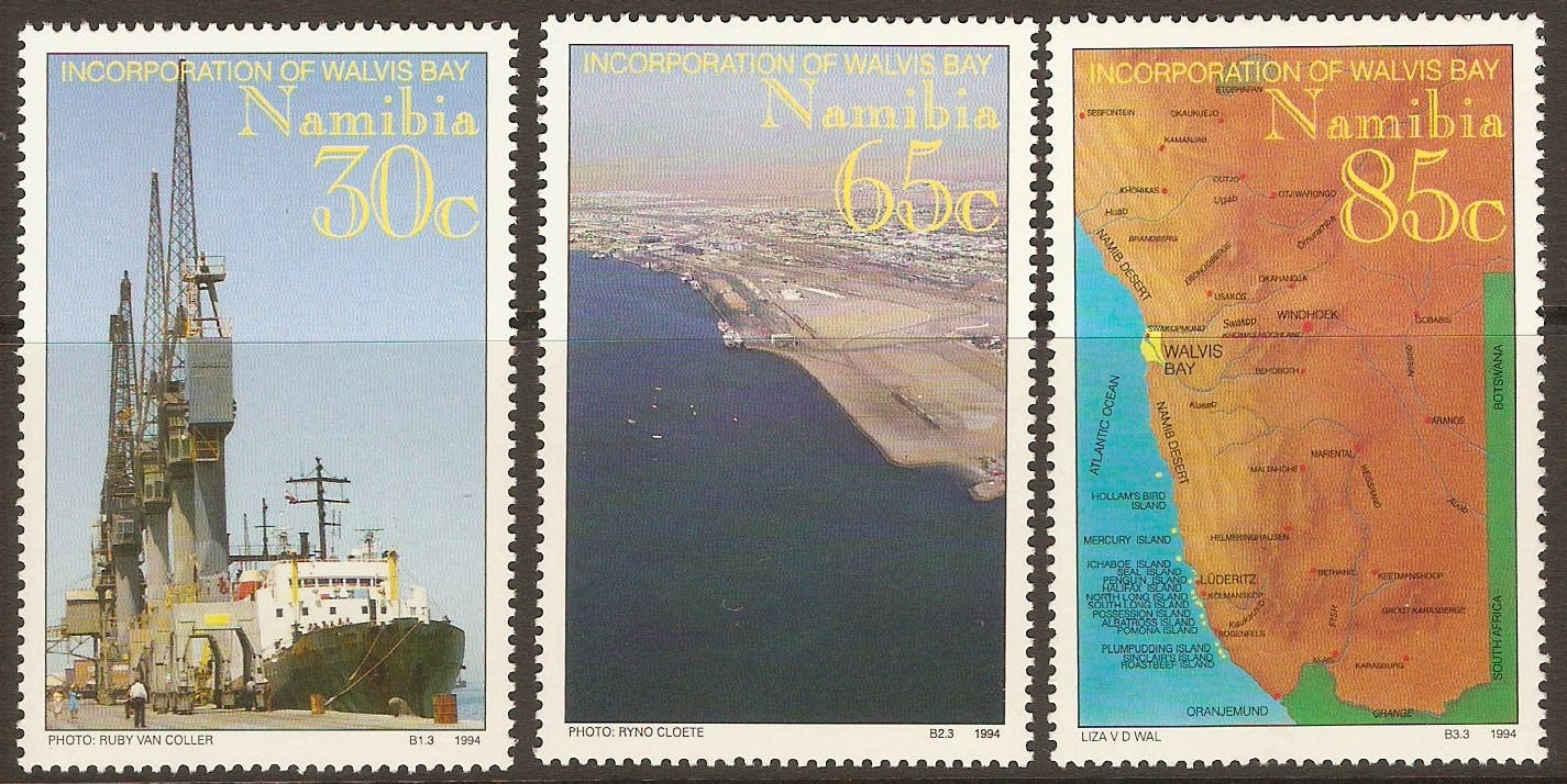 Namibia 1994 Incorporation of Walvis Bay set. SG641-SG643.