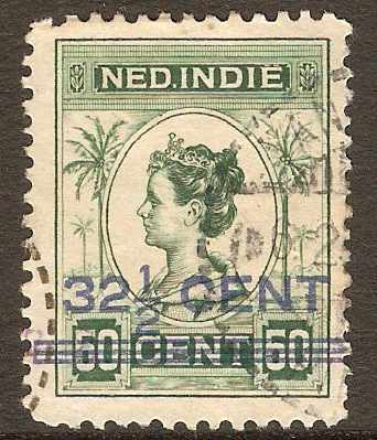Netherlands Indies 1921 32½c on 50c Green. SG253.