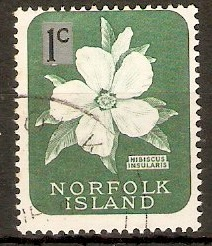 Norfolk Island 1966 1c on 1d Decimal series. SG60.