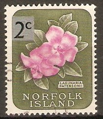 Norfolk Island 1966 2c on 2d Decimal series. SG61.