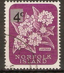 Norfolk Island 1966 4c on 5d Decimal series. SG63.