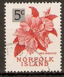 Norfolk Island 1966 5c on 8d Decimal series. SG64.