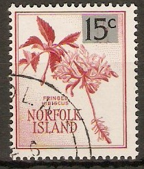 Norfolk Island 1966 15c on 1s.1d Decimal series. SG66.