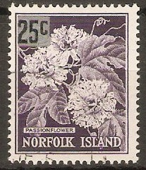Norfolk Island 1966 25c on 2s.5d Decimal series. SG68.