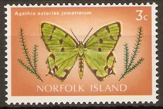 Norfolk Island 1977 3c Butterfly series. SG181.