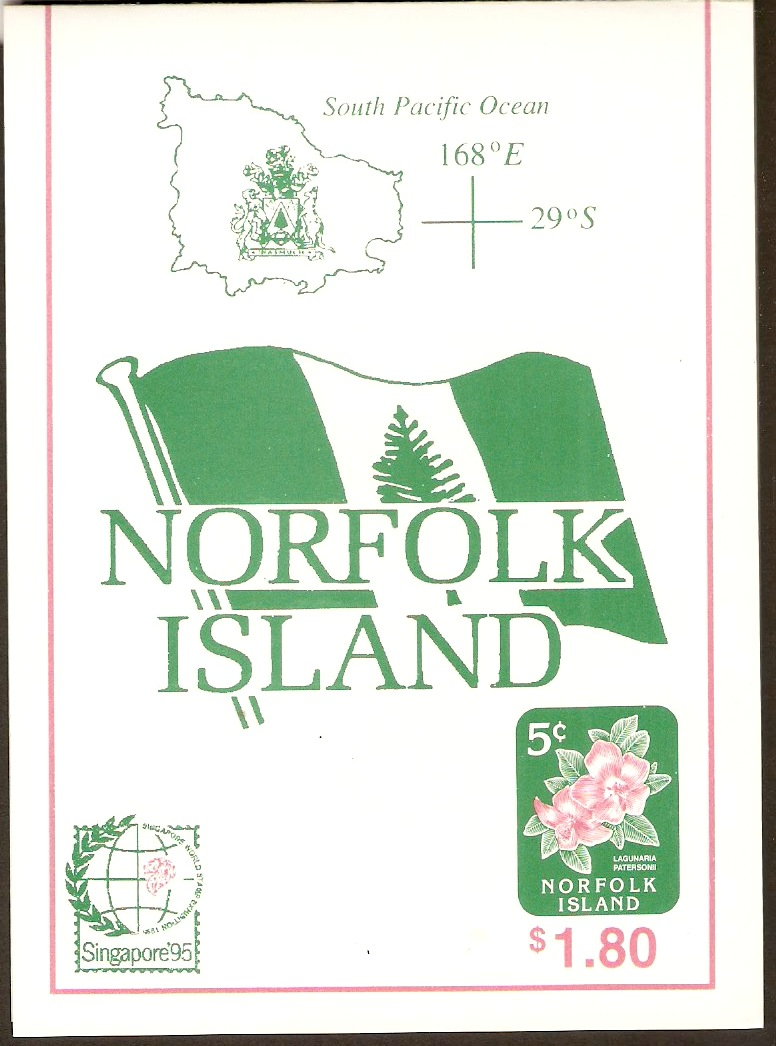 Norfolk Island 1995 Flowers Set Stamp Booklet. SG600-SG601.