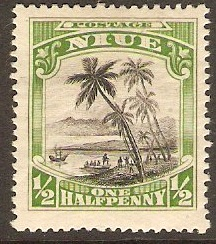 Niue 1920 ½d Black and green. SG38.