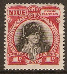 Niue 1932 1d Black and deep lake. SG56.