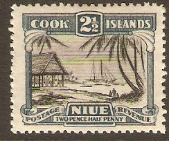 Niue 1932 2½d black and slate-blue. SG58.