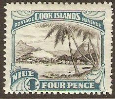 Niue 1932 4d black and greenish blue. SG59.
