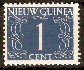Netherlands New Guinea 1950 1c Blue-grey. SG1.