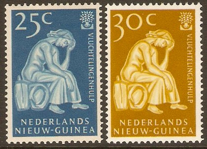 Netherlands New Guinea 1959 Refugee Year Set. SG67-SG68.