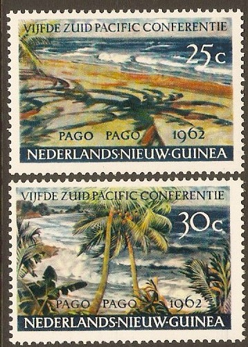 Netherlands New Guinea 1960 Pacific Conference Set. SG82-SG83.
