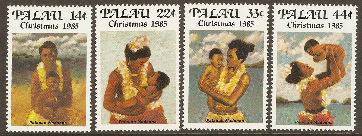 Palau 1985 Christmas set. SG85-SG88.
