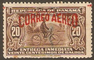 Panama 1929 20c Brown. SG269.
