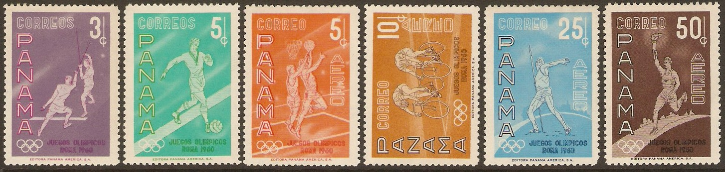 Panama 1960 Olympic Games Set. SG691-SG696.