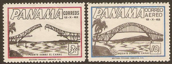 Panama 1962 Canal Bridge Opening Set. SG767-SG768.