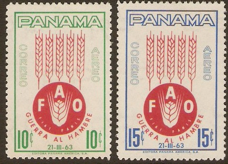 Panama 1963 Freedom from Hunger Set. SG784-SG785.