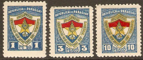 Paraguay 1937 Eucharistic Conference Set. SG496-SG498.