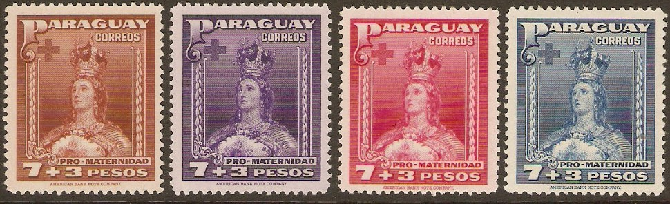 Paraguay 1941 Mother's Fund Set. SG561-SG564.