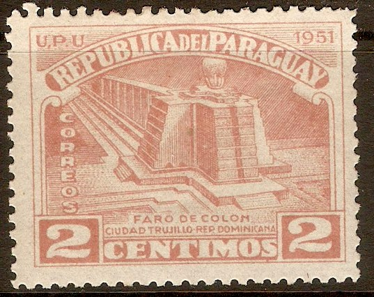 Paraguay 1952 2c Pale brown-red. SG701.