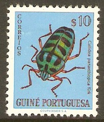 Portuguese Guinea 1953 10c Bugs and Beetles Series. SG327.