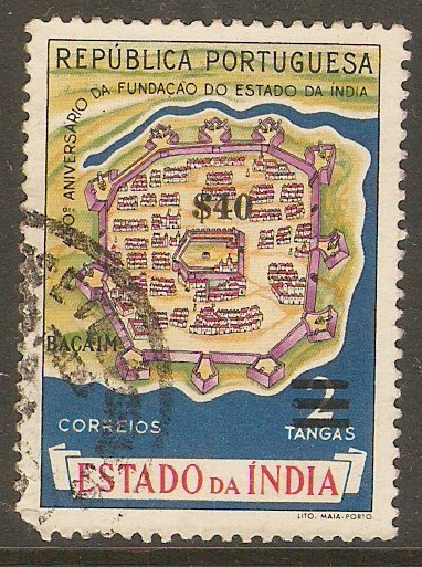 Portuguese India 1959 40c on 2t New Currency series. SG665.
