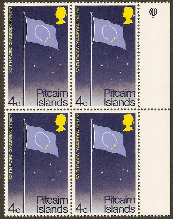 Pitcairn Islands 1972 4c Pacific Commission Series. SG120.