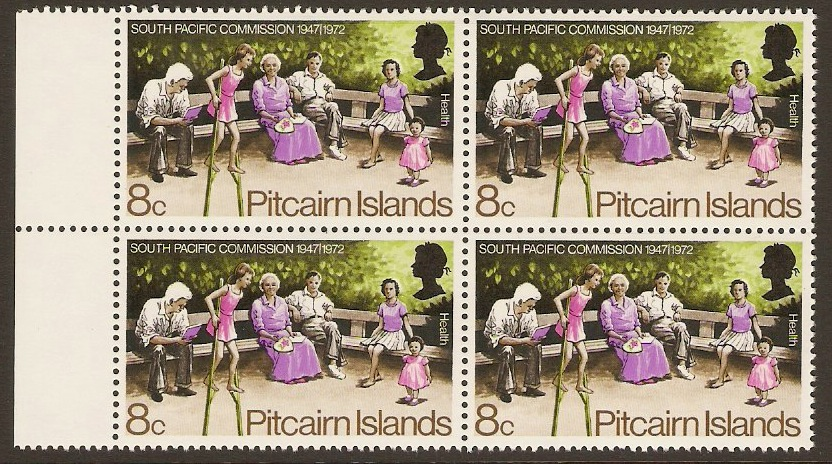 Pitcairn Islands 1972 8c Pacific Commission Series. SG121.