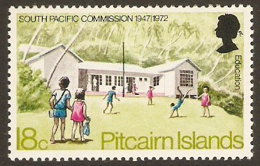 Pitcairn Islands 1972 18c Pacific Commission Series. SG122.