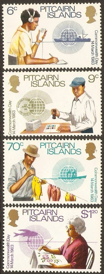 Pitcairn Islands 1983 Commonwealth Day Set. SG234-SG237.