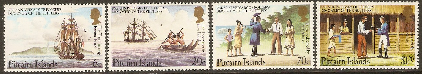 Pitcairn Islands 1983 Folger's Discovery Set. SG238-SG241.