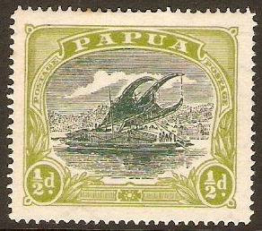 Papua 1916 ½d Myrtle and apple-green. SG93.