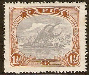 Papua 1916 1½d Pale grey-blue and brown. SG95.