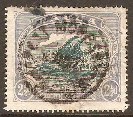 Papua 1916 2½d Green and blue. SG97.