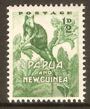 Papua New Guinea 1952 ½d Green. SG1.