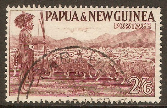 Papua New Guinea 1952 2s.6d Purple. SG13.