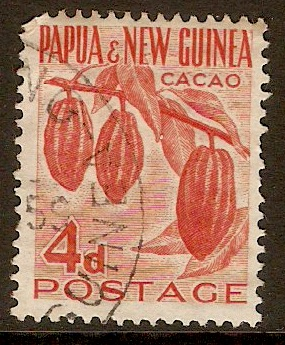 Papua New Guinea 1952 4d Red. SG18.