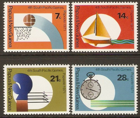 PNG 1971 South Pacific Games Set. SG200-SG203.
