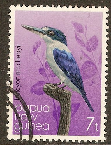 Papua New Guinea 1981 7t Kingfishers series. SG402.