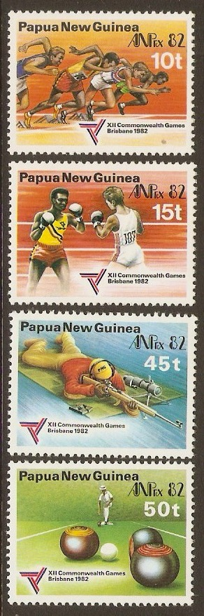 PNG 1982 Commonwealth Games Set. SG460-SG463.