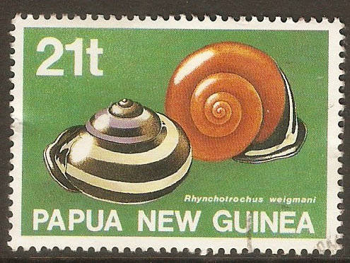 Papua New Guinea 1991 21t Land Shells series. SG632.