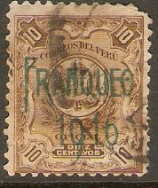Peru 1916 10c Bistre-brown. SG400.