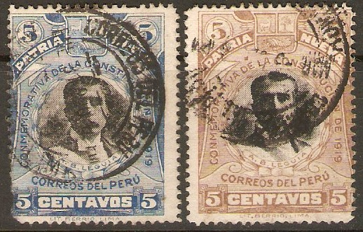 Peru 1919 New Constitution set. SG417-SG418.