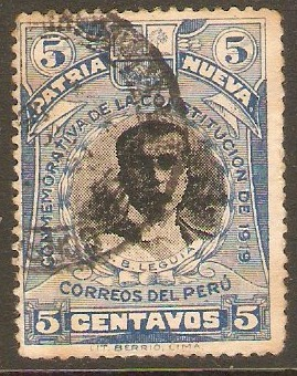 Peru 1919 5c New Constitution series. SG417.