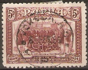 Papua 1934 5d Purple. SG149.