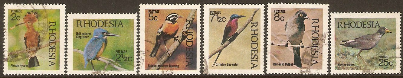 Rhodesia 1971 Birds of Rhodesia Set. SG459-SG464.