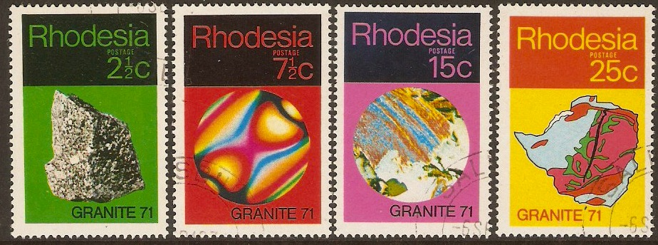 "Rhodesia 1971 ""Granite 71"" Set. SG465-SG468."