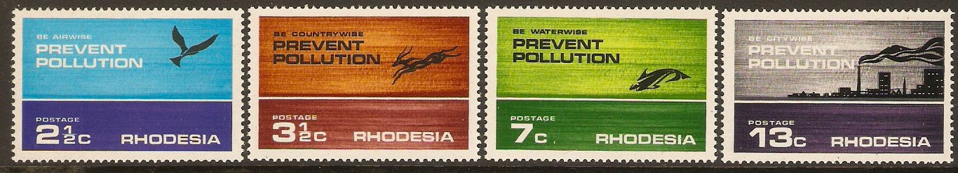 Rhodesia 1972 Prevent Pollution Set. SG470-SG473.