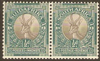 South Africa 1937 ½d Grey and green. SG75c.